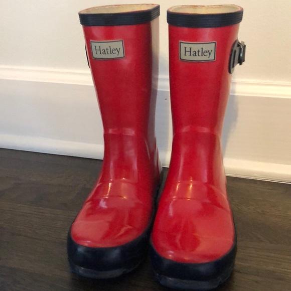 Hatley Other - ☔️Girls Red   Navy Hatley Rainboots Size 12💦 3240736edc6b